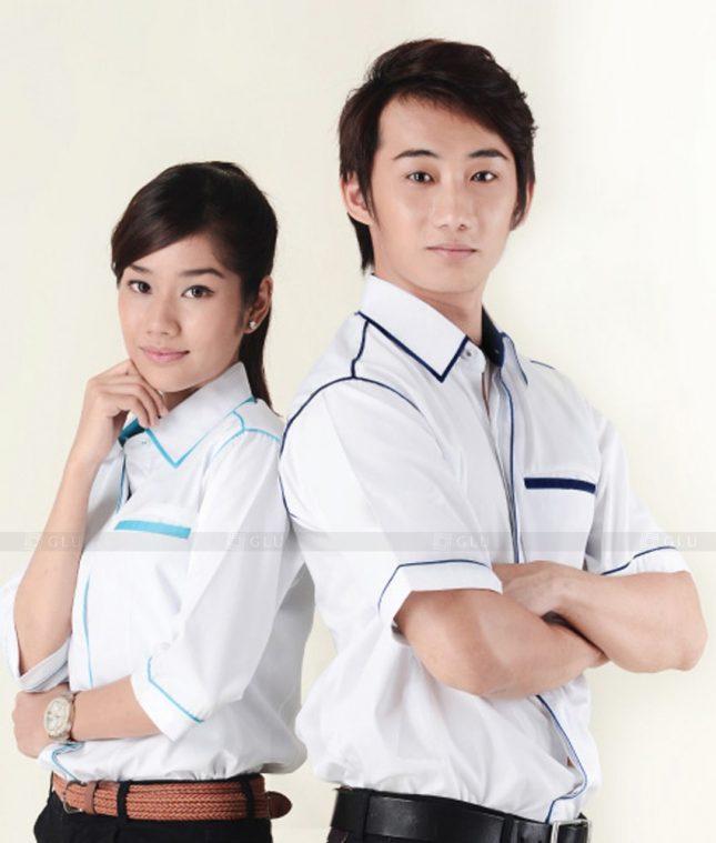 Dong Phuc Cong Ty GLU CT100 áo đồng phục công ty đẹp