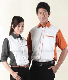 Dong Phuc Cong Ty GLU CT101 áo sơ mi đồng phục