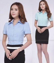 Dong Phuc Cong Ty GLU CT109 áo sơ mi đồng phục
