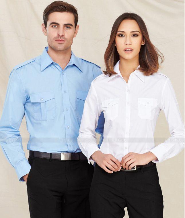 Dong Phuc Cong Ty GLU CT151 áo đồng phục công ty đẹp