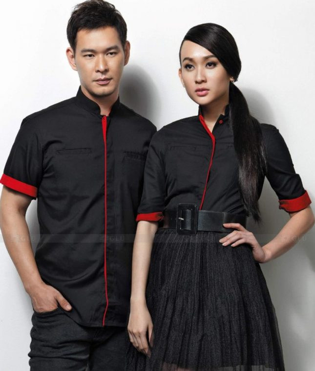 Dong Phuc Cong Ty GLU CT154 áo đồng phục công ty đẹp