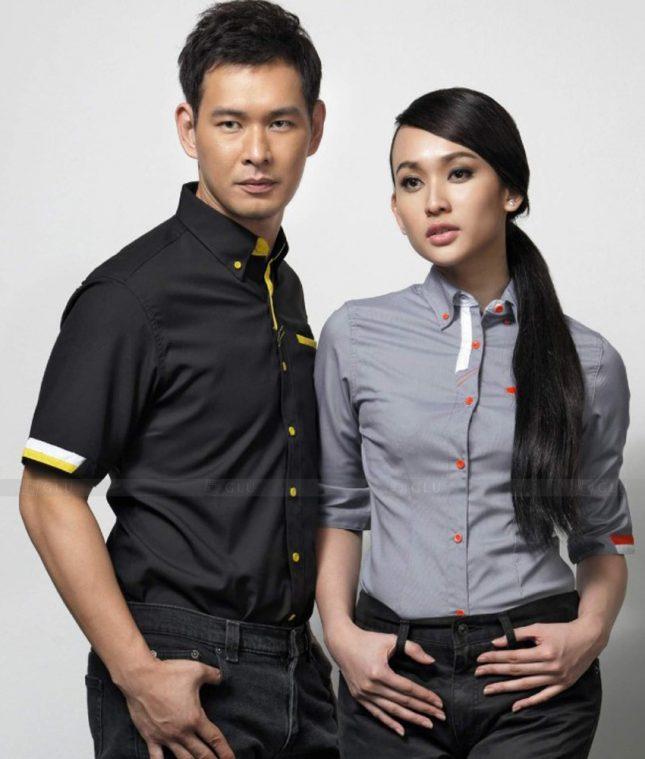 Dong Phuc Cong Ty GLU CT155 áo đồng phục công ty đẹp
