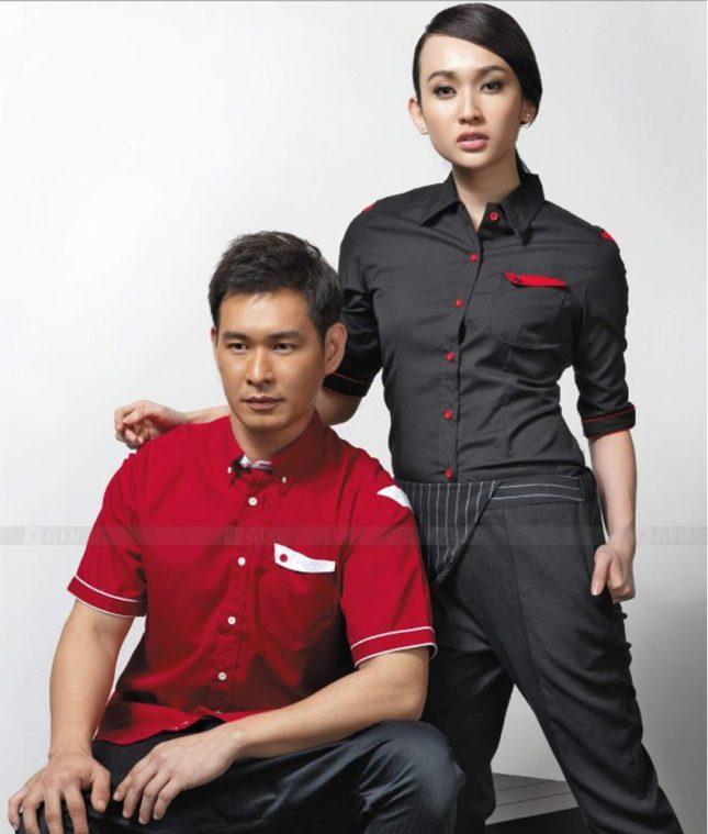 Dong Phuc Cong Ty GLU CT156 áo đồng phục công ty đẹp