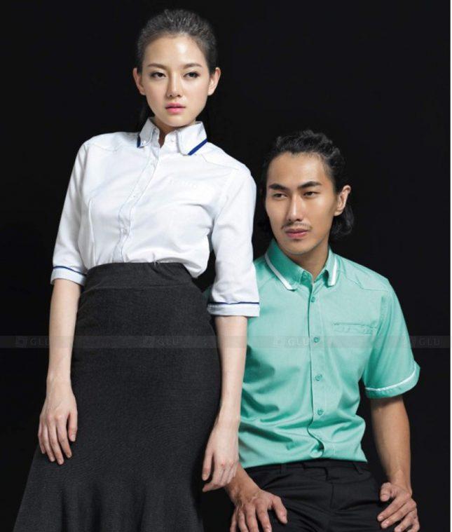Dong Phuc Cong Ty GLU CT157 áo đồng phục công ty đẹp