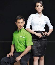Dong Phuc Cong Ty GLU CT158 may áo sơ mi