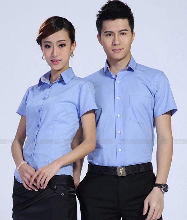 Dong Phuc Cong Ty GLU CT172 áo đồng phục công ty đẹp