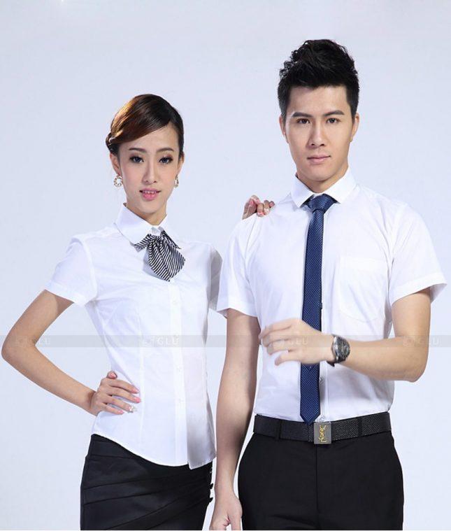 Dong Phuc Cong Ty GLU CT174 áo đồng phục công ty đẹp