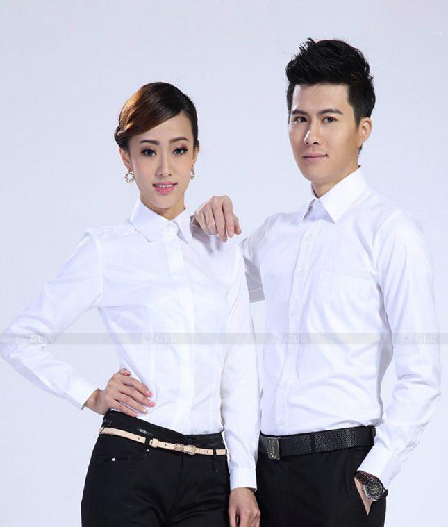 Dong Phuc Cong Ty GLU CT175 áo đồng phục công ty đẹp