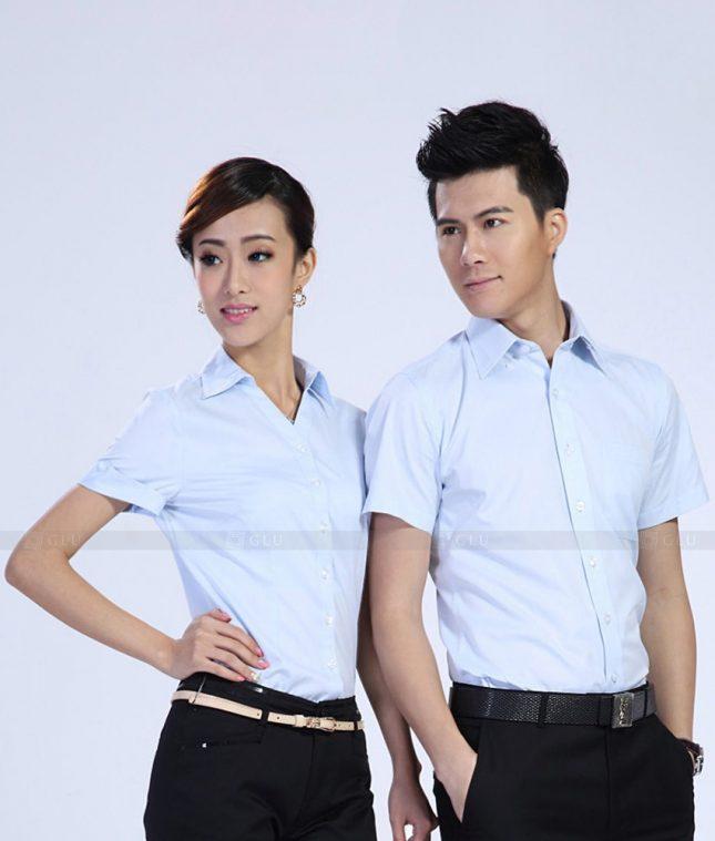 Dong Phuc Cong Ty GLU CT176 áo đồng phục công ty đẹp