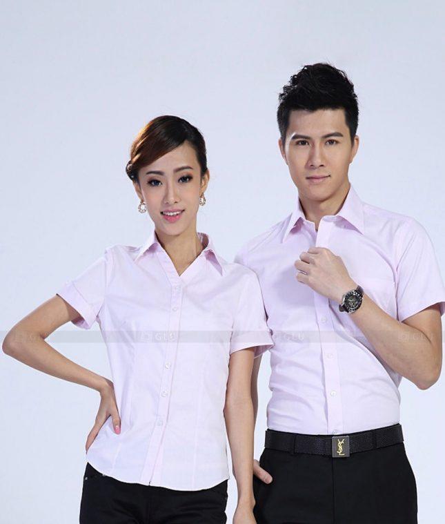 Dong Phuc Cong Ty GLU CT177 áo đồng phục công ty đẹp