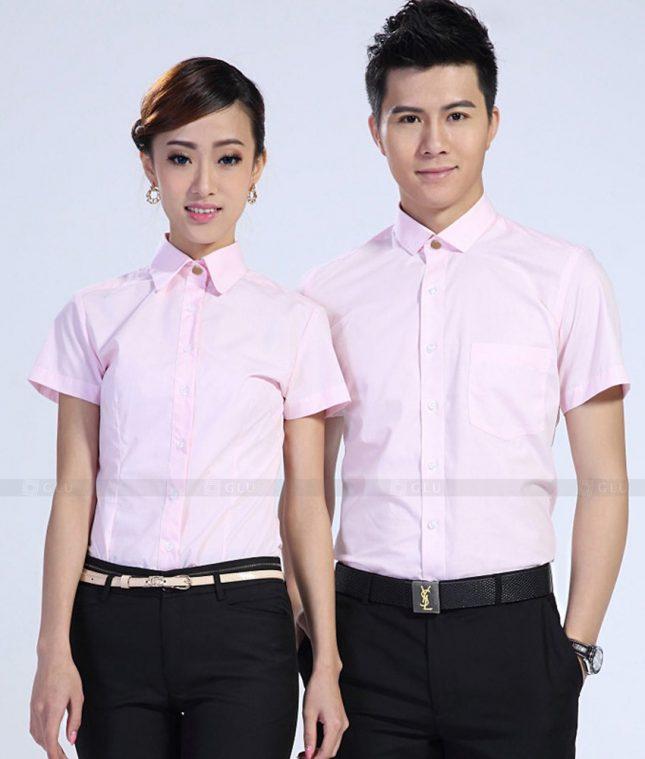 Dong Phuc Cong Ty GLU CT178 áo đồng phục công ty đẹp