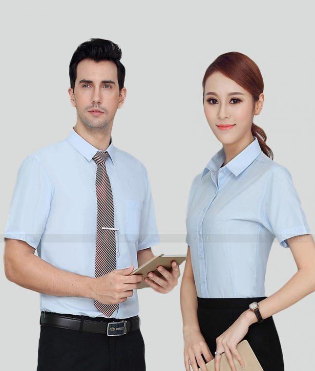 Dong Phuc Cong Ty GLU CT181 áo đồng phục công ty đẹp