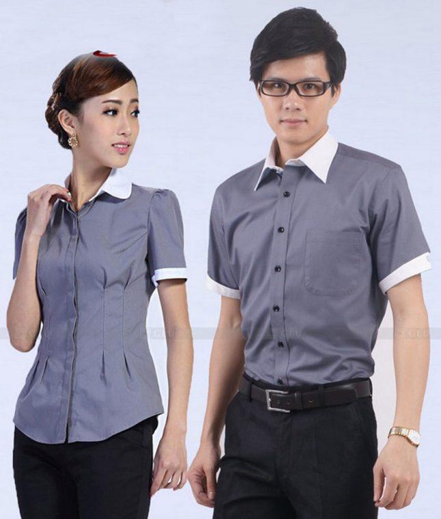 Dong Phuc Cong Ty GLU CT182 áo đồng phục công ty đẹp