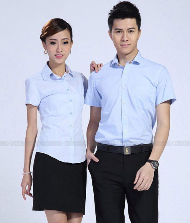 Dong Phuc Cong Ty GLU CT183 áo đồng phục công ty đẹp
