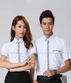 Dong Phuc Cong Ty GLU CT184 may áo sơ mi