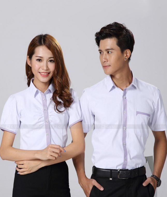 Dong Phuc Cong Ty GLU CT185 áo đồng phục công ty đẹp