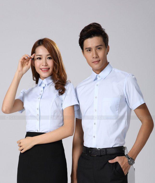 Dong Phuc Cong Ty GLU CT186 áo đồng phục công ty đẹp