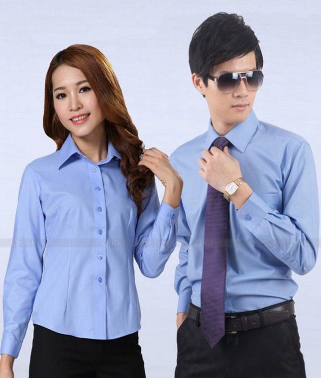 Dong Phuc Cong Ty GLU CT189 áo đồng phục công ty đẹp