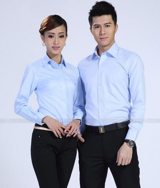 Dong Phuc Cong Ty GLU CT197 đồng phục công ty đẹp