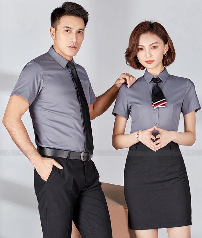Dong Phuc Cong Ty GLU CT208 đồng phục công ty đẹp