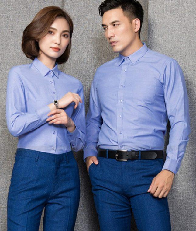 Dong Phuc Cong Ty GLU CT214 đồng phục công ty đẹp