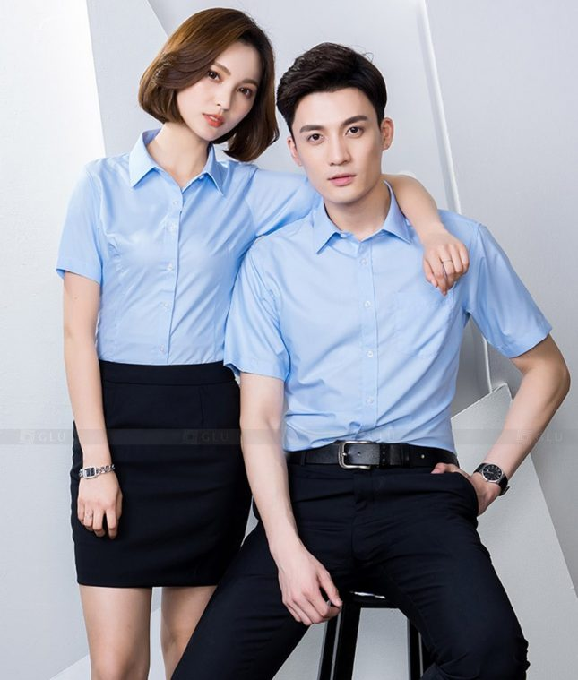 Dong Phuc Cong Ty GLU CT217 đồng phục công ty đẹp