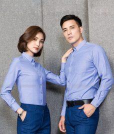 Dong Phuc Cong Ty GLU CT218 may áo sơ mi