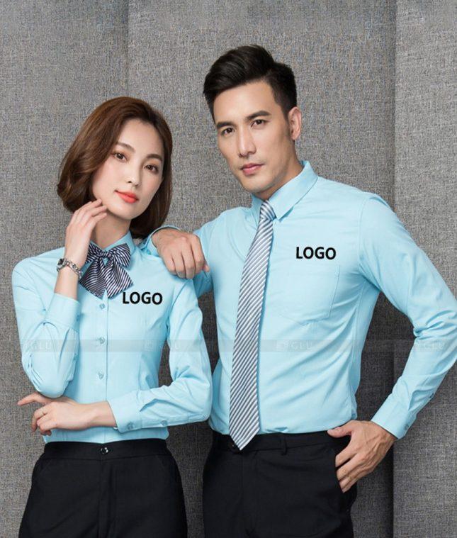 Dong Phuc Cong Ty GLU CT222 áo đồng phục công ty đẹp