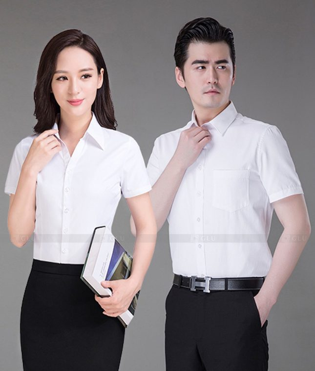 Dong Phuc Cong Ty GLU CT223 áo đồng phục công ty đẹp