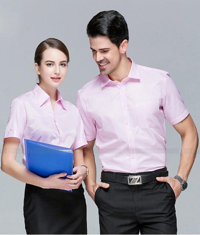 Dong Phuc Cong Ty GLU CT224 áo đồng phục công ty đẹp
