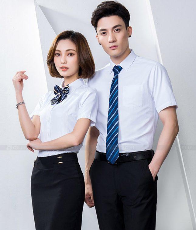 Dong Phuc Cong Ty GLU CT225 áo đồng phục công ty đẹp
