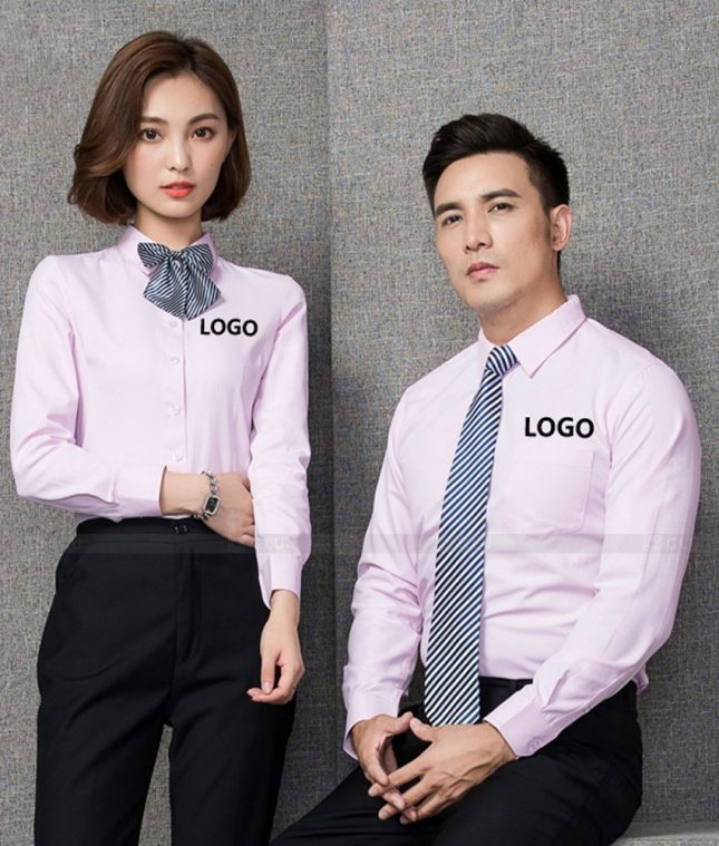 Dong Phuc Cong Ty GLU CT227 áo đồng phục công ty đẹp