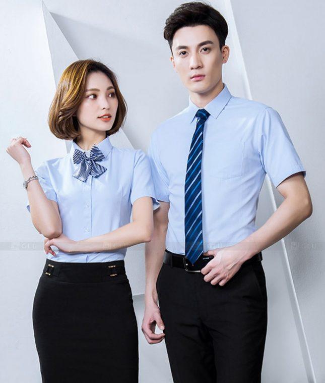 Dong Phuc Cong Ty GLU CT228 áo đồng phục công ty đẹp