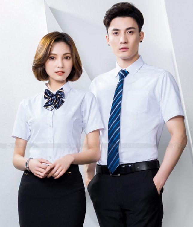 Dong Phuc Cong Ty GLU CT229 áo đồng phục công ty đẹp