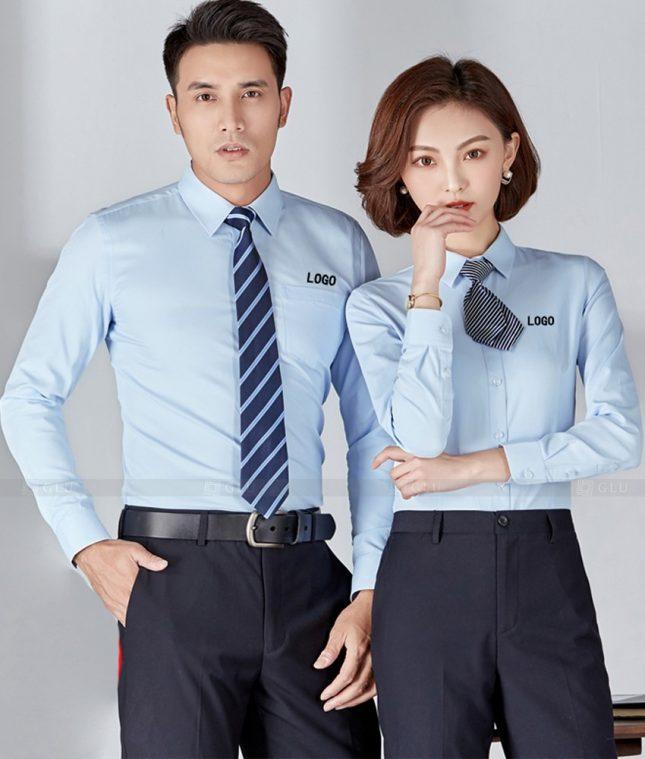 Dong Phuc Cong Ty GLU CT231 áo đồng phục công ty đẹp