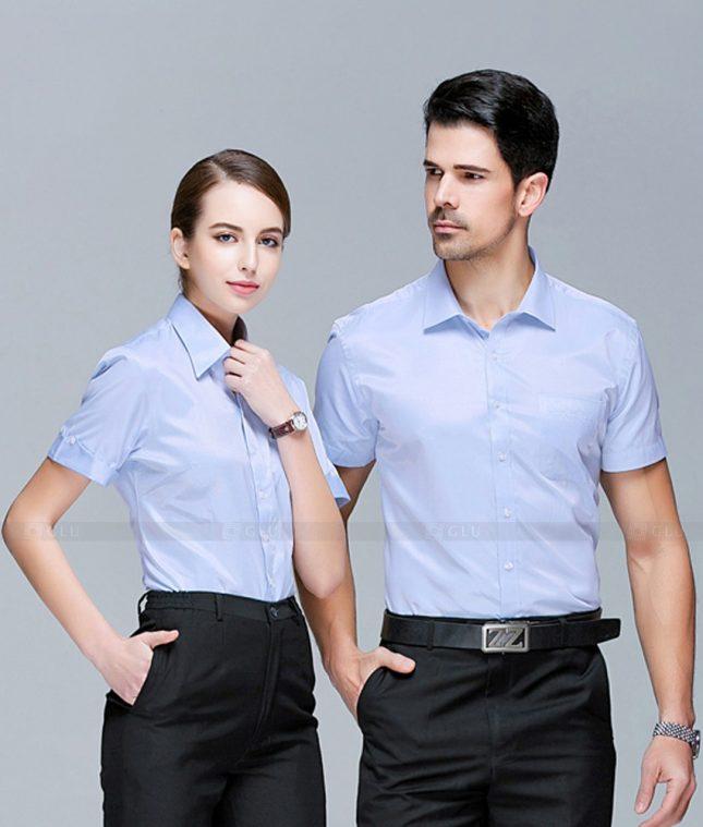 Dong Phuc Cong Ty GLU CT232 áo đồng phục công ty đẹp
