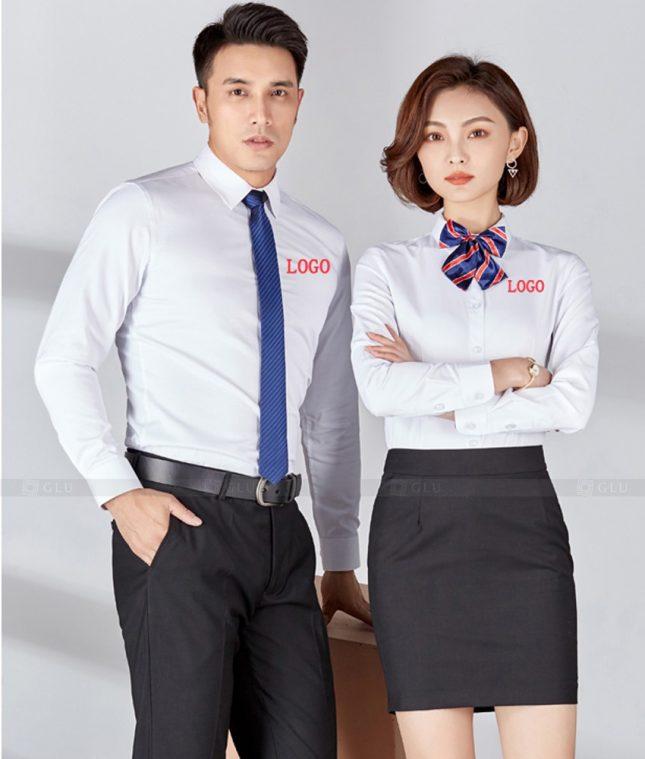 Dong Phuc Cong Ty GLU CT233 áo đồng phục công ty đẹp