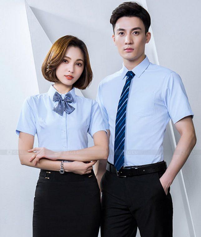 Dong Phuc Cong Ty GLU CT234 áo đồng phục công ty đẹp