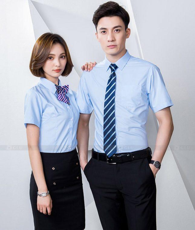 Dong Phuc Cong Ty GLU CT235 áo đồng phục công ty đẹp