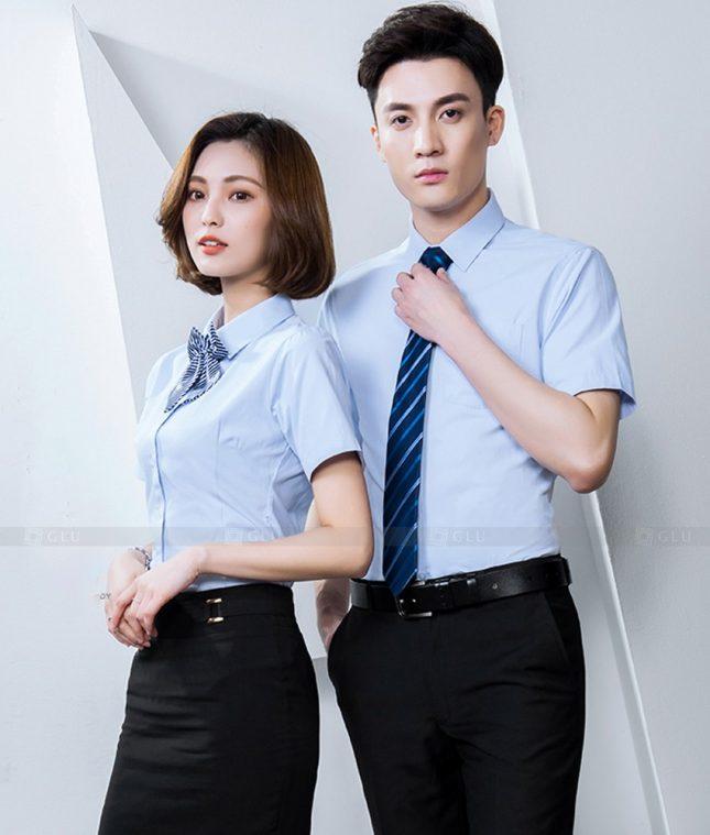 Dong Phuc Cong Ty GLU CT236 áo đồng phục công ty đẹp