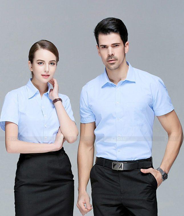 Dong Phuc Cong Ty GLU CT237 áo đồng phục công ty đẹp
