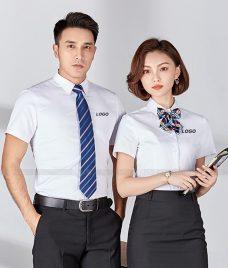 Dong Phuc Cong Ty GLU CT238 may áo sơ mi
