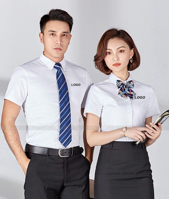 Dong Phuc Cong Ty GLU CT238 áo đồng phục công ty đẹp