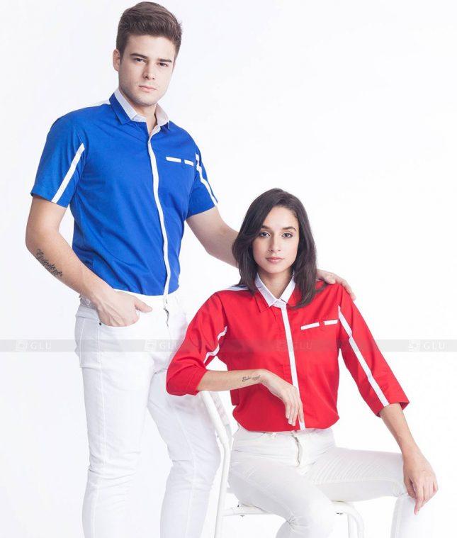 Dong Phuc Cong Ty GLU CT36 áo đồng phục công ty