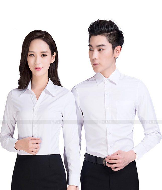Dong Phuc Cong Ty GLU CT64 áo đồng phục công ty đẹp