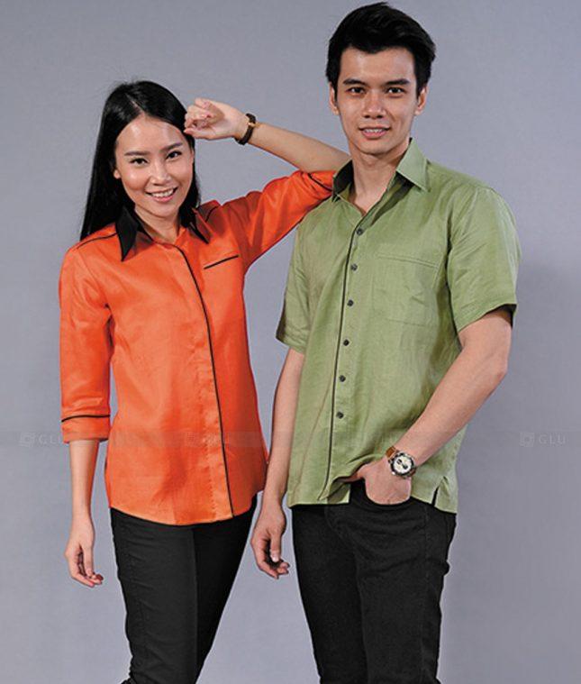Dong Phuc Cong Ty GLU CT76 áo đồng phục công ty đẹp