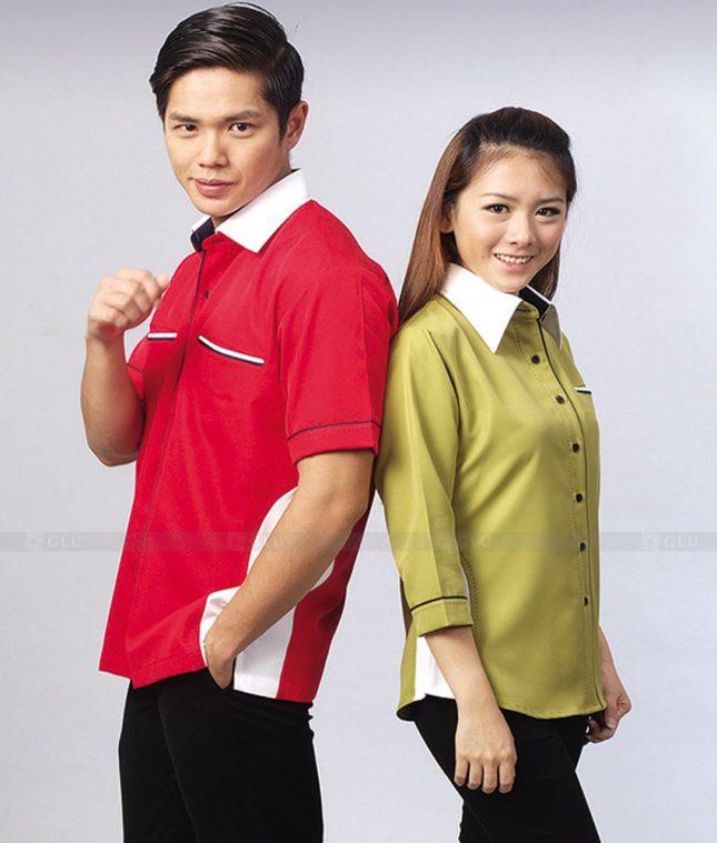 Dong Phuc Cong Ty GLU CT77 áo đồng phục công ty đẹp