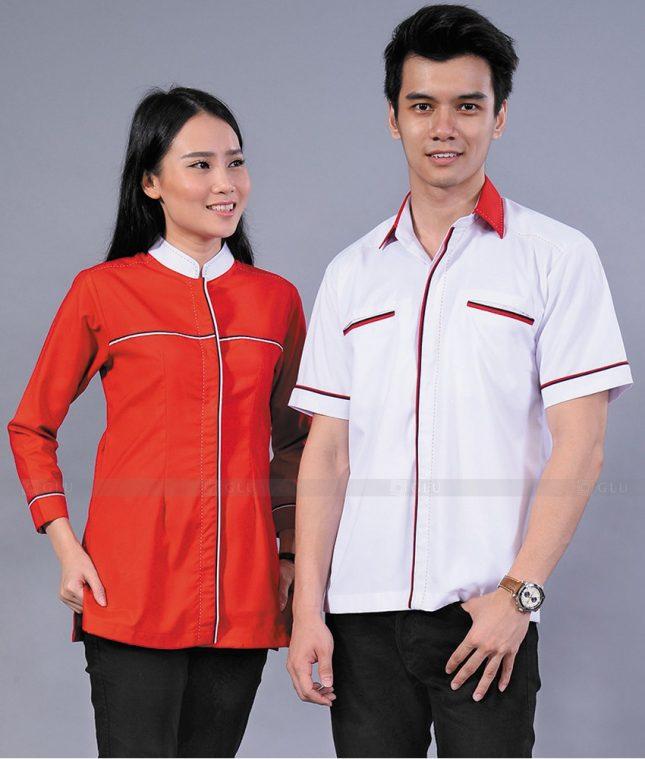 Dong Phuc Cong Ty GLU CT78 áo đồng phục công ty đẹp