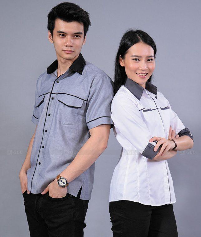 Dong Phuc Cong Ty GLU CT81 đồng phục công ty đẹp