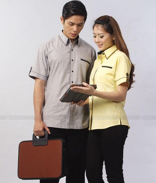 Dong Phuc Cong Ty GLU CT83 áo đồng phục công ty đẹp